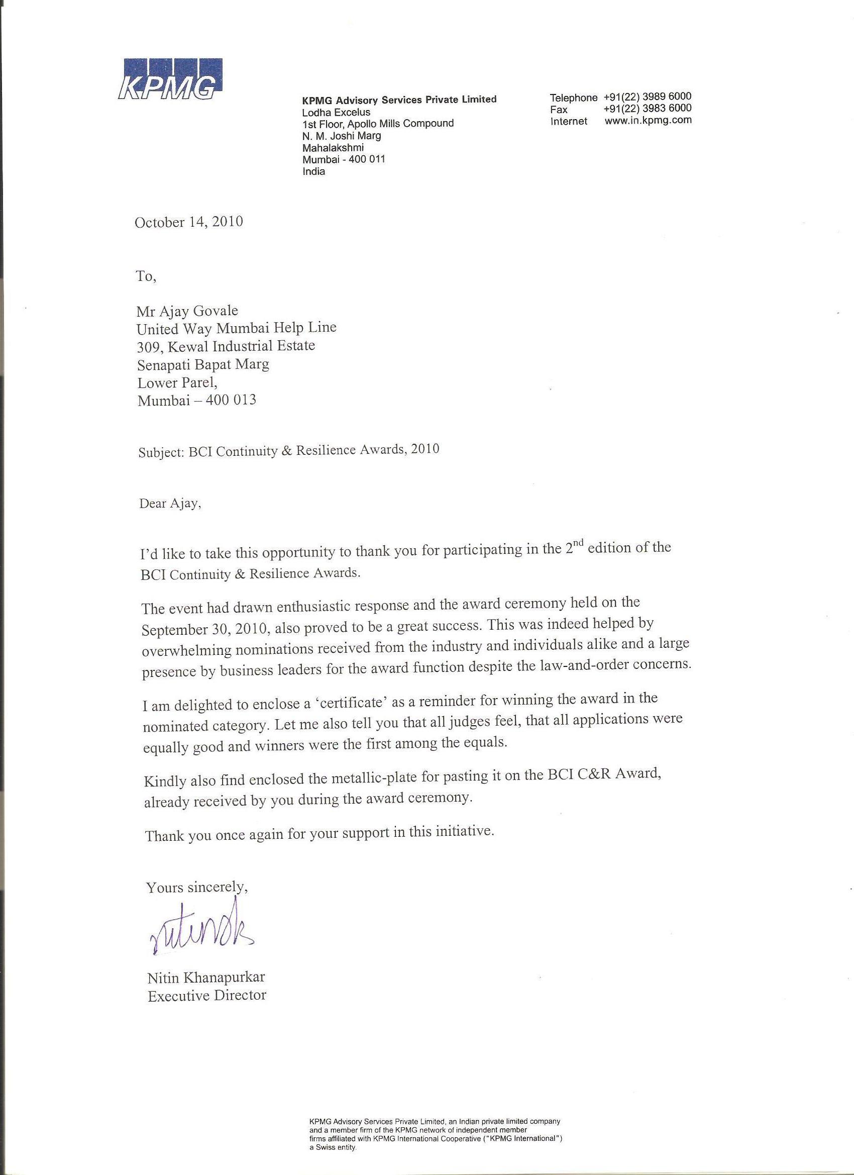 appreciation letter thevillas co